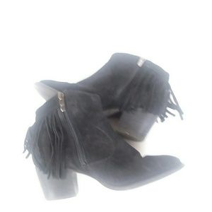 Marc Fisher Shoes - Marc Fisher leather fringe ankle bootie